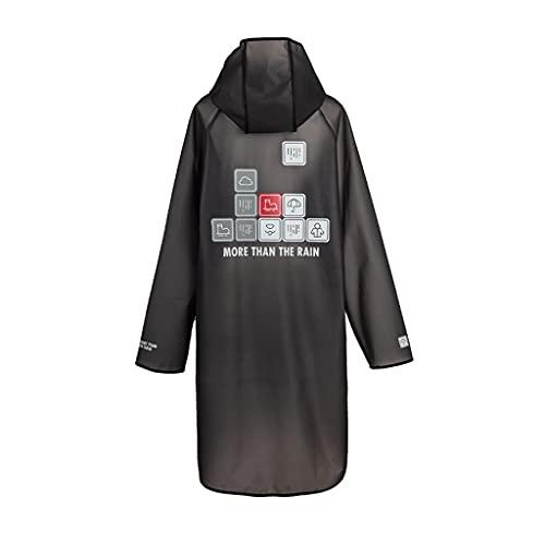 szy Impermeable Abrigos de lluvia transparentes Capas de lluvia Poncho impermeable con capucha Impermeable Equipo de lluvia Abrigos de lluvia largos abrigos de lluvia (color: negro, tamaño: M)