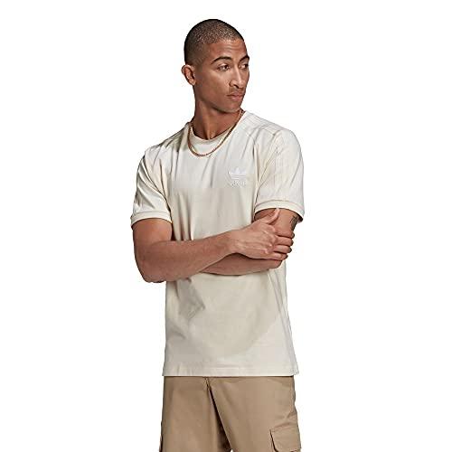 adidas Originals T-Shirt Herren 3 Stripes T ND GN4187 Beige, Größe:L