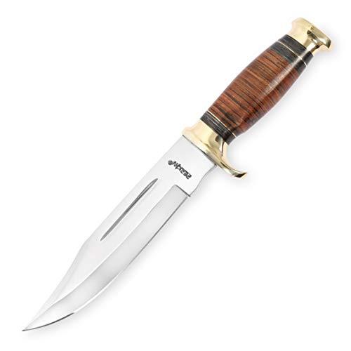 handgemachtes Jagdmesser mit Scheide - Ledergriff Bowiemesser