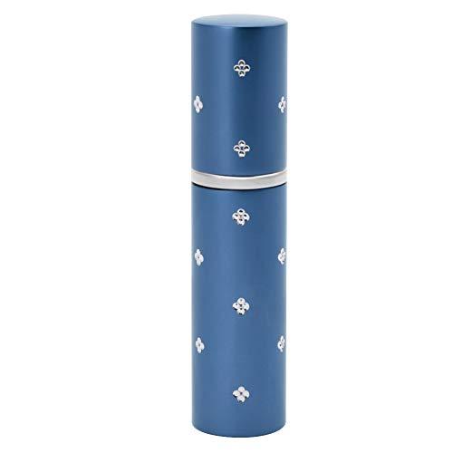 Mini Bouteilles D'atomiseur de Parfum de 10 Ml, Bouteille D'atomiseur de Jet Cosmétique de Pompe Vide de Parfum Rechargeable en Aluminium Portative pour Voyager(Bleu)