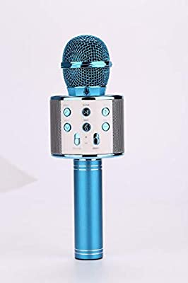 Wireless Bluetooth Karaoke Microphone,3-in-1 Portable Handheld Karaoke Mic Home Party Birthday Speaker Machine For IPhone/Android/iPad/Sony, PC And All Smartphone Home, Party Singing ( Color : Blue )