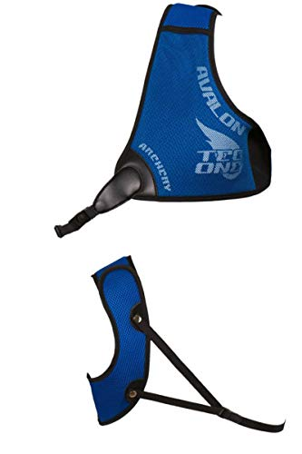 Avalon Archery Tec One Right Hand Chest Guard for Compound or Recurve Archery (Blue, Medium)