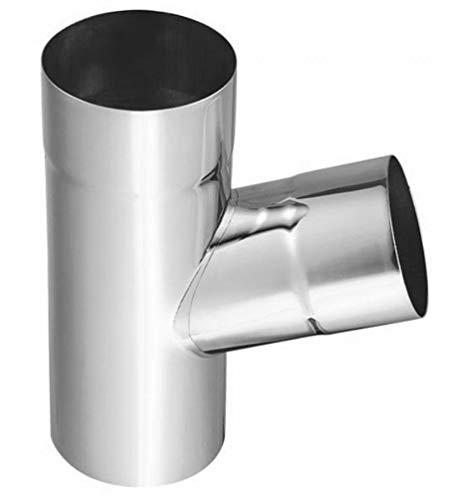 Regenrohrabzweige 72° Titanzink in allen Größen (wählbar) (100-87 mm)