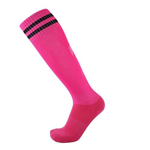 WanYangg Unisex Atmungsaktiv Verschleißfest Strümpfe Stutzen Rutschfeste Sport Socken Herren Damen, Dicke Deodorant für Fußball Basketball Trekking Laufen 1#Pink 3 * Erwachsene