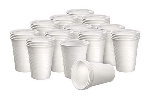 Herrmann Einwegtrinkbecher 0,2 Liter weiß | 3000 Stück | Partybecher aus Kunststoff | Ideal für Feste - wie Geburtstage, Grillparties, sowie für Hygienebereiche - Patienten, Pflege UVM.