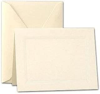 Crane & Co. Ecruwhite Triple Panel Large Note Cards (CF6816)