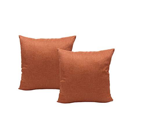 Montanchezz - Set di 2 federe per Cuscino, 45 x 45 cm, Stampa Digitale, Texture setosa, Stile Moderno, Throw Pillow Case, Unisex - Adulto, Arancione