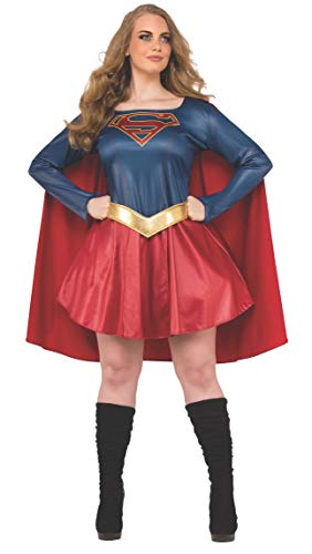 Rubie's Women's Supergirl Tv Show Dress Adult Sized Costumes, As Shown, Plus