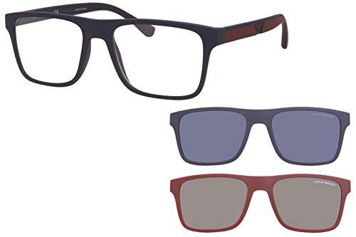 Emporio Armani Gafas de sol EA4115 58541W Gafas de sol hombre color Azul transparente tamaño de lente 54 mm