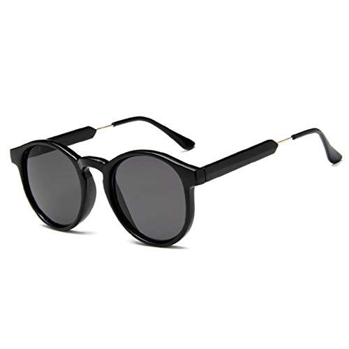UKKD Gafas De Sol Gafas De Sol Redondas Retro Mujeres Hombres Marca Diseño Transparente Mujer Gafas De Sol