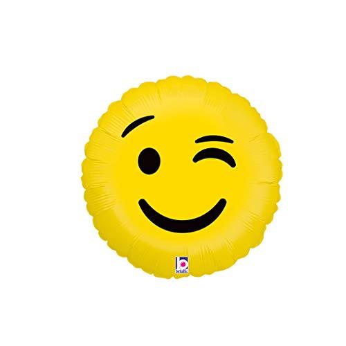 Emoji globo de guiño – 18 pulgadas Emoji Mylar globo – 1 unidad