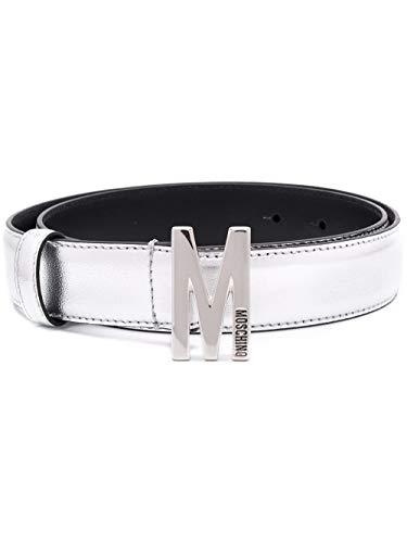 Moschino Luxury Fashion Damen A801980110600 Silber Leder Gürtel | Frühling Sommer 20
