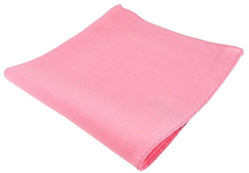 TigerTie fijne zijdezakdoek in roze effen - zakdoek 100% pure zijde
