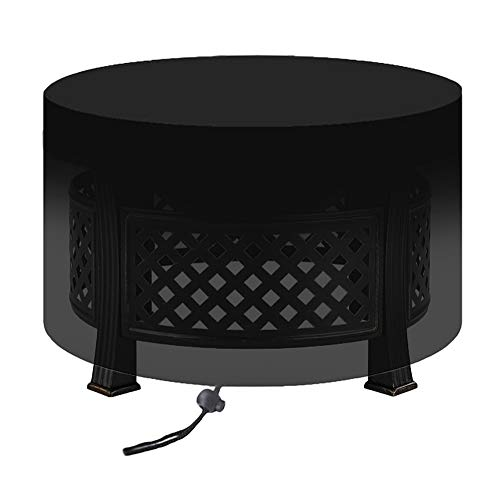 Fire Pit Cover Round, Outdoor Large Small Fire Pit Covers with 26 Sizes Optional, Waterproof, Windproof, Anti-UV, Heavy Duty Fabric for Garden Stove Firepit Fireplace Table Firebowl,D58 x H77cm