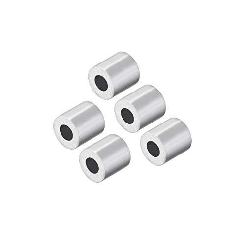 M1.2 Muffe aus Aluminium, einfach, Crimp-Rohr 1,2 mm 4/64 aus Stahldraht, Schnur-Clips, Kabel-Verschlüsse 5 Stück