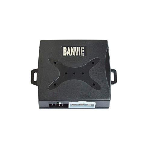 BANVIE RFID Leather Key Car Push to Start Ignition kit Engine Start Stop Button Switch Keyless Go System
