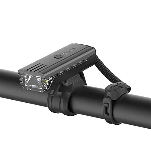 ZHONGPIN Mountainbike-Licht/Fahrradlicht / 500 Lumen/regendicht/hohe Helligkeit / 5 Arten von Ton- / Lichtsensor/USB-Aufladung, geeignet für Fahrradbeleuchtung usw.