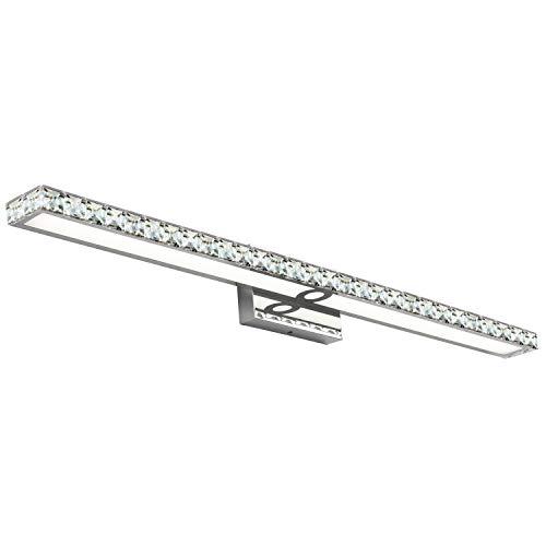 40 Inches SOLFART Crystal Long Bathroom Vanity Lights Fixtures Over Mirror Wall Lights
