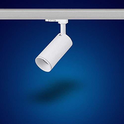 Mextronic GU10 3-PHASEN-STRAHLER Dreh- und schwenkbarer für GU10 Leuchtmittel LED 3 Phasen Leuchte Genius L501 für Schienensystem