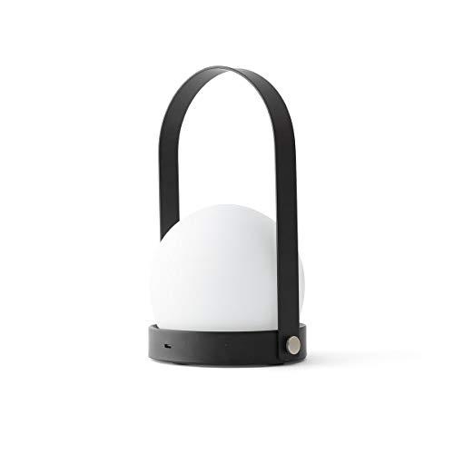 Preisvergleich Produktbild Carrie LED Akkuleuchte tragbar,  schwarz pulverbeschichtet H 24.5cm Ø 13.5cm