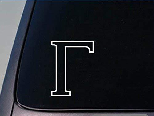 Griekse Letter Gamma Sticker *H253* 6 Inch hoog Vinyl broederschap Sorority Decal Vinyl Sticker Voor Auto's, Vrachtwagens, Laptops, Koelkast En Meer