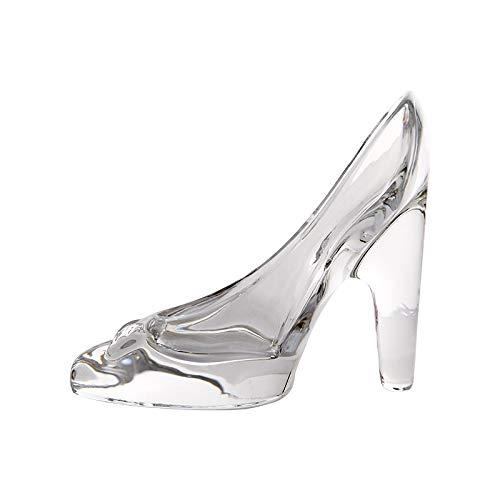 Da.Wa Cinderella Crystal High-heeled Shoes Transparent Pendant Glass Slipper Princess Feelings Ornaments Wedding Party Decoration Gift for Kids Girls Daughter Bridal