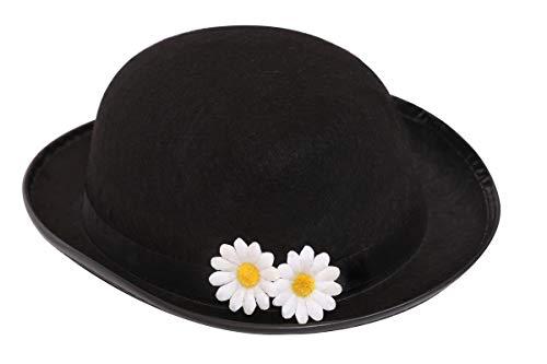 I LOVE FANCY DRESS LTD Sombrero de niñera victoriana para adultos y niños. Sombrero mágico para niñera con flores. Tallas para adultos: 58 cm y 60 cm. Tamaño para niños: 55 cm