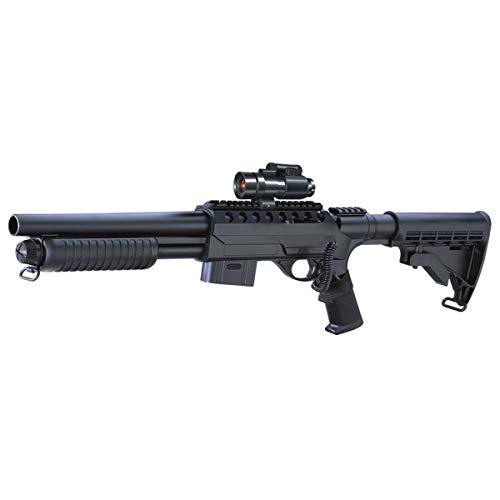 Rayline Softair Gewehr Shotgun Pumpgun RM47D1 ABS 1:1 67,5cm 1760g 6mm, 0,5 Joule ab 14 Jahre