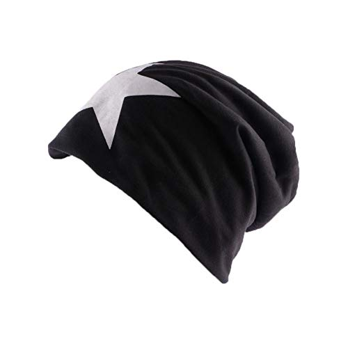 Divers Bonnet Biker Oversize Noir avec étoile - Mixte