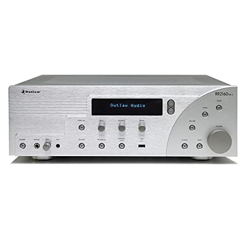 RR 2160MkII Retro Stereo Receiver | Class AB | Internet Radio Now with WiFi | HD FM Tuner | Coax, Optical, RCA Inputs | Selectable Bass Management | Remote Control | Tone Controls