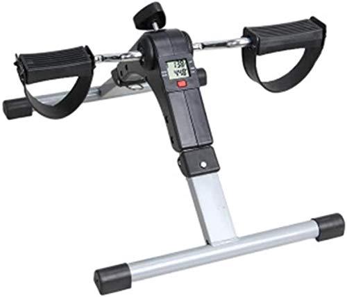 Woodtree Portátil Plegable Mini Rueda de Ardilla de la Bicicleta estática Inicio Digital Pantalla LCD Pierna de la Aptitud Trainer Gimnasio Pedal de máquina, Color: Negro (Color : Black)