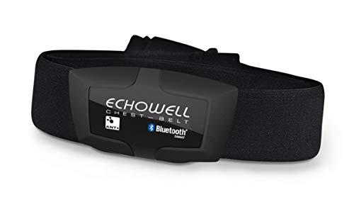 Echowell DMH 30 Fietscomputer met hartslagmeter, zwart