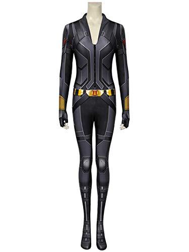 SJJYP Femme Performance Jumpsuit serré Ensemble, Les Avengers Black Widow Cos Black Uniform Collant Cosplay Costume Costume Halloween Accessoires,Black-S 160~165cm