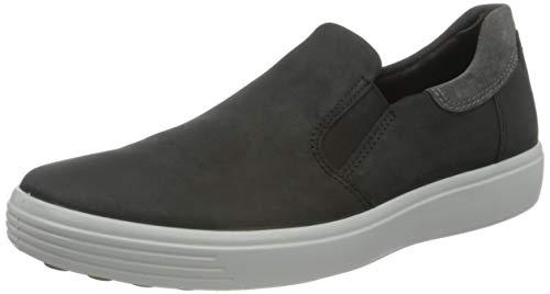 ECCO Herren Soft 7 M Black Magnet Sneaker Slip On, Schwarz (BLACK/MAGNET), 44 EU