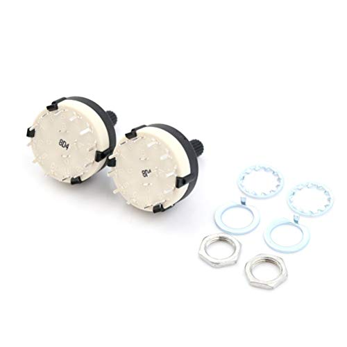 Switches - 2pc Single Deck Rotary Switch Band Selector Rs26 1 Pole Position 12 Selectable Channel - Swing Input Open Pushbutton Moisture Roller Switch Illuminated Ceramic Remote Position Rota