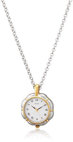 [セイコーウォッチ] 懐中時計 ペンダントウオッチ お花型ケース ローマ数字表記 チェーン付 SWPX010
