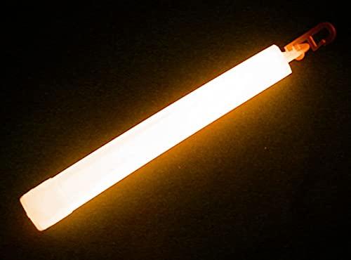 Emergency Glow Sticks - 6 Inch 12 Hour Long Lasting Military Grade Glow Sticks - Bulk Box of 50 (Orange)