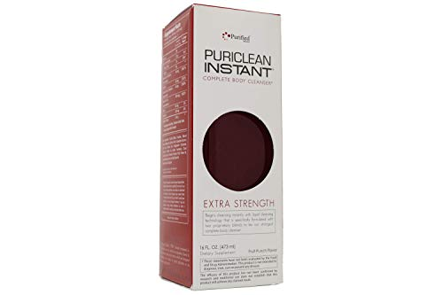 Puriclean Same-Day Detox Drink, Extra Strength Cleansing Quick Flush Potent Deep System Cleanser Fruit Punch Flavor (16 oz)