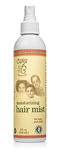 CARA B Naturally Moisturizing Hair Mist for Kids and Babies Textured Curly Hair – Natural Hair Detangler Misting Spray Great On Sensitive Skin EczemaFriendly – 8 Ounces