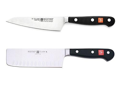 "Wusthof Classic 2 Piece 5"" Nakiri and 4.5"" Asian Utility Knife Set 8507"