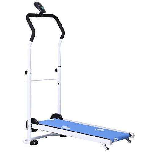 homcom Tapis Roulant Magnetico Pieghevole per Fitness Allenamento a Casa in Acciaio 52×92×110-130cm