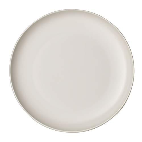 Villeroy & Boch it's my match, großer Teller Uni, 27 cm, formschöner Teller für jeden Tag, Premium Porzellan, weiß, spülmaschinengeeignet