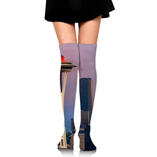Calcetines transpirables hasta la rodilla deportivos deportivos largos calcetines elásticos antideslizantes