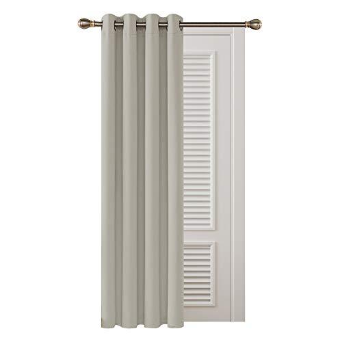 Deconovo Cortinas Salon Opacas con Aislamiento Térmico para Habitación 1 Pieza con Ojales 132 x 160 cm Beige Claro