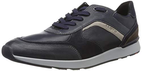 LLOYD Herrenschuh BARI, moderner Herren-Sneaker aus Leder mit Gummisohle, Blau (Blue/Midnight/Ocean/Grey/Ebano 3), 42 EU