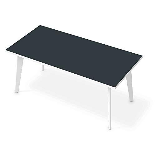 Tisch Klebefolie Dekosticker I Tischaufkleber Sticker - Möbelfolie selbstklebend I Dekoration Esstisch - Farbe: Blaugrau Dark