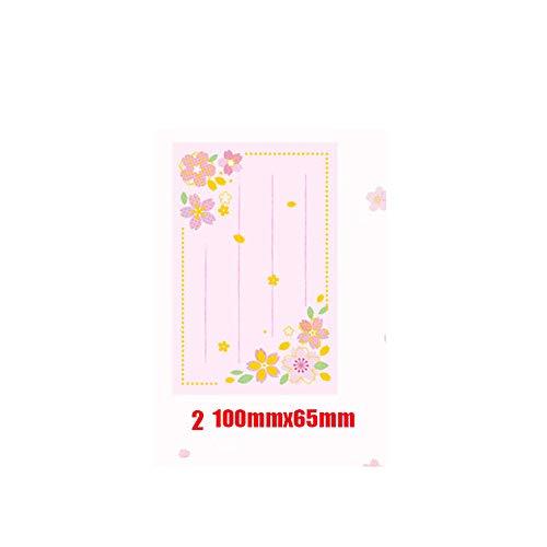 shihao159 Kladblok Memo Pad, Office benodigdheden briefpapier Word Book Checklist Maandelijkse Planner Blank Schrijven Papier Notebook 2-100mmx65mm