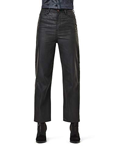 G-STAR RAW Womens Tedie Ultra High Waist Straight Jeans, Schwarz (Waxed Black Cobler C526-A946), 31W / 34L