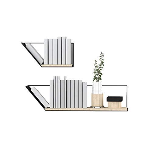 hongbanlemp Büroregal Einfaches Wand-hängendes Bücherregal Multifunktionsbücherregal/Collectibles/dekorative Einzelteile, sehr verwendbar for Wohnzimmer/Büro/Schlafzimmer Bücherschrank