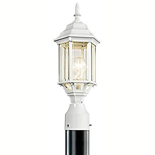 Kichler 49256WH Chesapeake Outdoor Post Mount 1-Light, White
